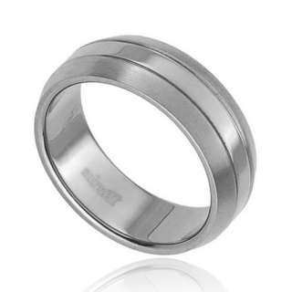 New Titanium Jewelry Satin/Polish Band Men Wedding Ring