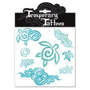 Hawaiian Temporary Tattoos Honu Turtle Swirl: Kitchen & Dining
