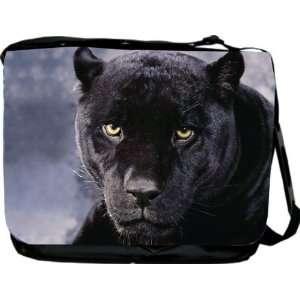 Rikki KnightTM Black Panther Cat Design Messenger Bag