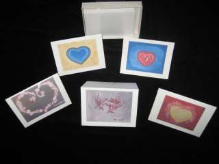 Valentines Note Cards Cupids Hearts Austin Texas Art