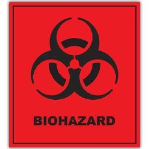 BIOHAZARD Sign Large window wall sticker decal 10 x 8