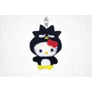 Japanese Sanrio Hello Kitty As Badtz maru Plush Keyring