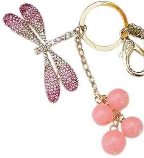 Pink Dragonfly Bling Crystals Rhinestone Handbag Purse