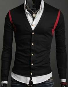 New Mens Casual Slim Sexy Stylish Cardigan Sweater 231