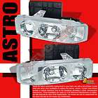 95 05 CHEVY ASTRO VAN GMC SAFARI HEAD LIGHTS 96 98 02 (Fits Astro)