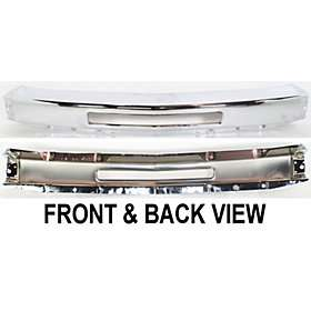 Bumper Reinforcement 15941850 Chrome Chevy Silverado Pickup Truck Auto