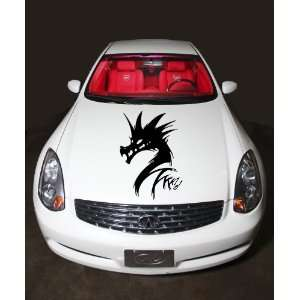 Hood Vinyl Sticker Dragon Chinese Tribal Tattoo A425: Home & Kitchen