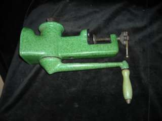Heavy Duty Vintage Enamel Coated Cast Iron Meat Grinder Marked Harper