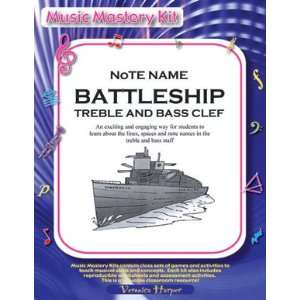 Note Name Battleship Treble Clef and Bass Clef