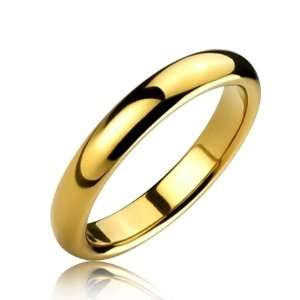 Bling Jewelry Gold Plated 4mm Tungsten Carbide Ring   Size
