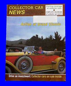 COLLECTOR CAR NEWS AUG 1986,6.5 M BUGATTI,SHELBY MUSTANG,AUGUST HOT