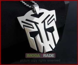 S112 Transformers G1 Autobot Stainless Steel Pendant