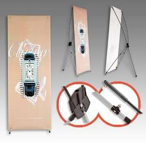 Tripod X Banner Stand 24x63 Trade Show Display BRAND NEW
