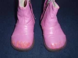 Toddler girls See Kai Run Pink Boots Shoes sz 5 PLAY condition