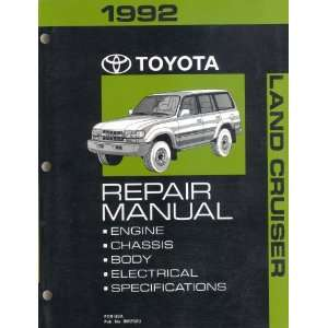 1992 Toyota Land Cruiser Repair Manual: Toyota: Books