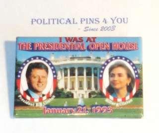 Campaign Pin Pinback Political Button BILL CLINTON 1993