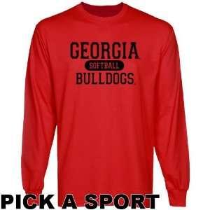 UGA Bull Dogs Shirts  Georgia Bulldogs Custom Sport Long Sleeve T