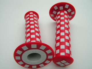 Old school BMX Checkerboard grips   RED & WHITE