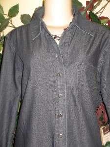 Coldwater creek denim tunic duster jacket Plus size 3X