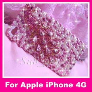 3D peafowl Bling Crystal Case cover for iPhone 4 4G B19