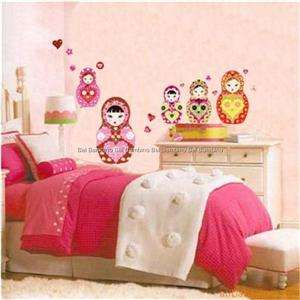 BABUSHKA DOLL REMOVABLE WALL STICKER DECAL NURSERY KIDS