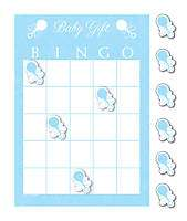 Baby Shower Party Bingo Games Blue For Boy