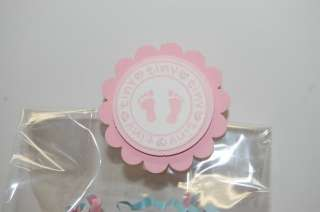 Pink Girl Baby Shower Treat Bag Toppers Party Favors
