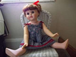Vintage 1960s Little Girl Toodles Walker Baby Doll American Character