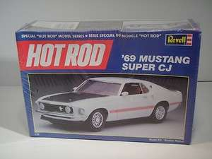Revell Model Kit 1969 69 Mustang Super CJ Car NIB Hot Rod Series 7121