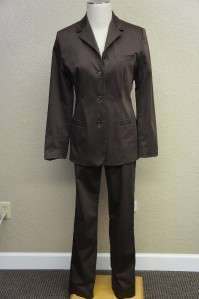 Banana Republic Brown Lined Long Sleeve Pant Suit Sz 10
