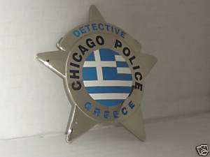 Obsolete Chicago Police Detective Greece Badge