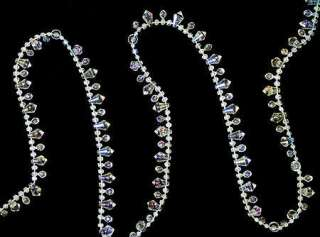 Size 18 foot long crystal clear iridescent diamond garland & you will