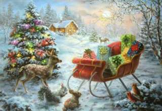 Artist Nicky Boehme TIS THE NIGHT BEFORE CHRISTMAS Greeting CARD