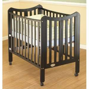Orbelle Tian Two Level Portable Crib   Black Baby