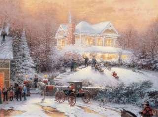 Thomas Kinkade Victorian Christmas Snowy Eve1000 Piece Jigsaw Puzzle