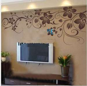 130x60cm Beautiful Flower Vine Vinyl Wall Paper Decal Art Sticker Q182