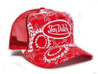 Authentic Brand New Von Dutch Red/Hawaiian Cap Hat