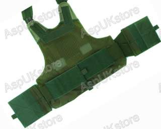 Molle Airsoft Tactical Strike Plate Carrier Vest OD AG
