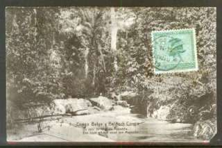 BELGIAN CONGO #89 on SURCHARGED POSTAL CARD  10/10/1925