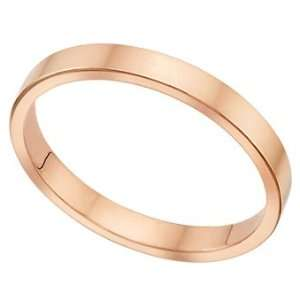 Millimeters Flat Rose Gold Wedding Band Ring on Sale 14Kt Gold