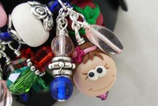 Nutcracker Suite Ballet Lampwork Style Charm Bracelet Mouse King Sugar