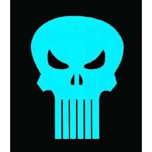 Punisher Symbol Blue Neon Version Black T Shirt X Large