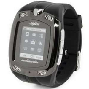 1.33 touch screen tri band watch phone, accesories 512MB