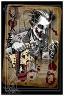 Joker Batman Print Dark Knight Heath Ledger Tattoo Art