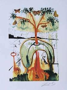 SALVADOR DALI Mad Tea Party Surrealism Signed Litho Art