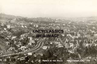 1930s HOLLYWOOD HILLS CA HOMES  AERIAL PANORAMIC PHOTO