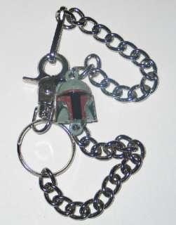 Star Wars Boba Fett Mask / Helmet 3 D Wallet Chain NEW