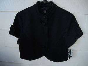 GRACE ELEMENTS Black Crop Jacket Bolero MEDIUM NWT $89.99