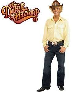 DUKES OF HAZZARD BO DUKE HALLOWEEN COSTUME WITH WIG AND COWBOY HAT