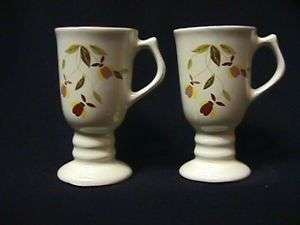 JEWEL TEA AUTUMN LEAF MINIATURE IRISH COFFEE MUGS